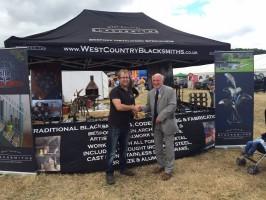 Award winning tent West Country Blacksmiths